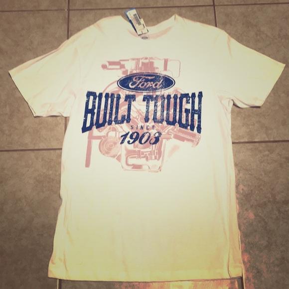 Other - Ford Men White 1903 Built Tough Shirt Large
